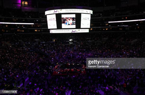 A general view before the start of The Celebration of Life for Kobe Gianna Bryant at Staples Center on February 24 2020 in Los Angeles California