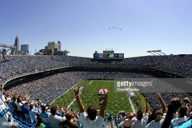 A general view before the start of the New Orleans Saints versus Carolina Panthers game on September 11 2005 at Bank of America Stadium in Charlotte...