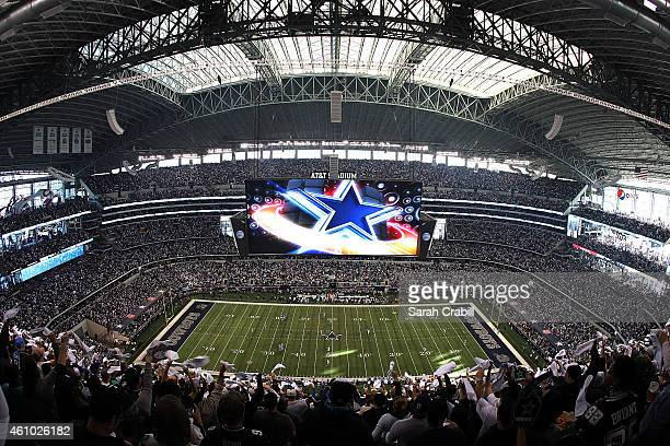 A general view before the start of the NFC Wild Card Playoff game between the Dallas Cowboys and the Detroit Lions at ATT Stadium on January 4 2015...