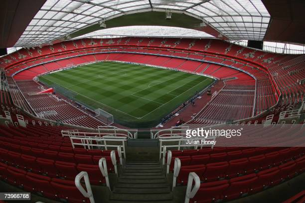 A general view before the UEFA Champions League last 16 round match between Arsenal and PSV Eindhoven at The Emirates Stadium on March 7 2007 in...