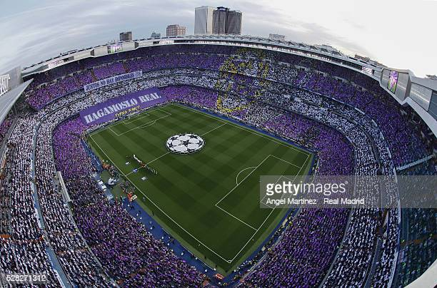 General view before the UEFA Champions League Semi Final second leg match between Real Madrid and Manchester City FC at Estadio Santiago Bernabeu on...