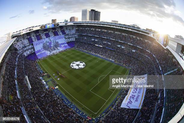 A general view before the UEFA Champions League Semi Final Second Leg match between Real Madrid and Bayern Muenchen at Estadio Santiago Bernabeu on...