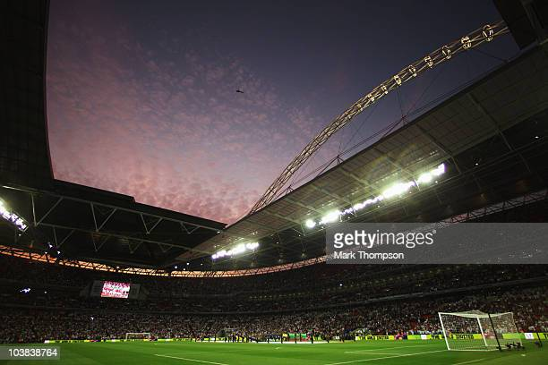 General view before the UEFA EURO 2012 Group G Qualifying match between England and Bulgaria at Wembley Stadium on September 3 2010 in London England