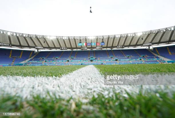 General view before the UEFA Euro 2020 Championship Group A match between Italy and Switzerland at Olimpico Stadium on June 16, 2021 in Rome, Italy.