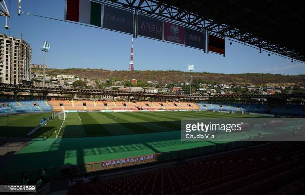 General view before the UEFA Euro 2020 qualifier between Armenia and Italy at Republican Stadium after Vazgen Sargsyan on September 5, 2019 in...