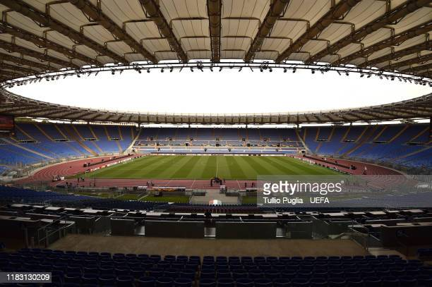 A general view before the UEFA Europa League group J match between AS Roma and Borussia Moenchengladbach at Stadio Olimpico on October 24 2019 in...