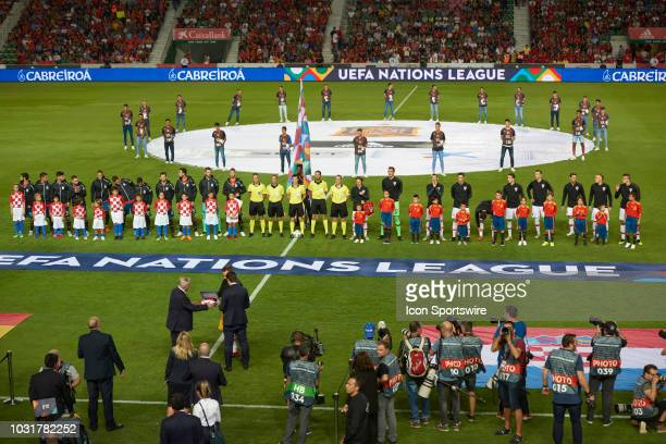 General view before the UEFA Nations League A Group four match between Spain and Croatia on September 11 at Estadio Manuel Martinez Valero in Elche...