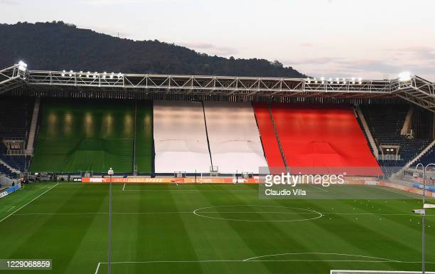 General view before the UEFA Nations League group stage match between Italy and Netherlands at Stadio Atleti Azzurri d'Italia on October 14, 2020 in...