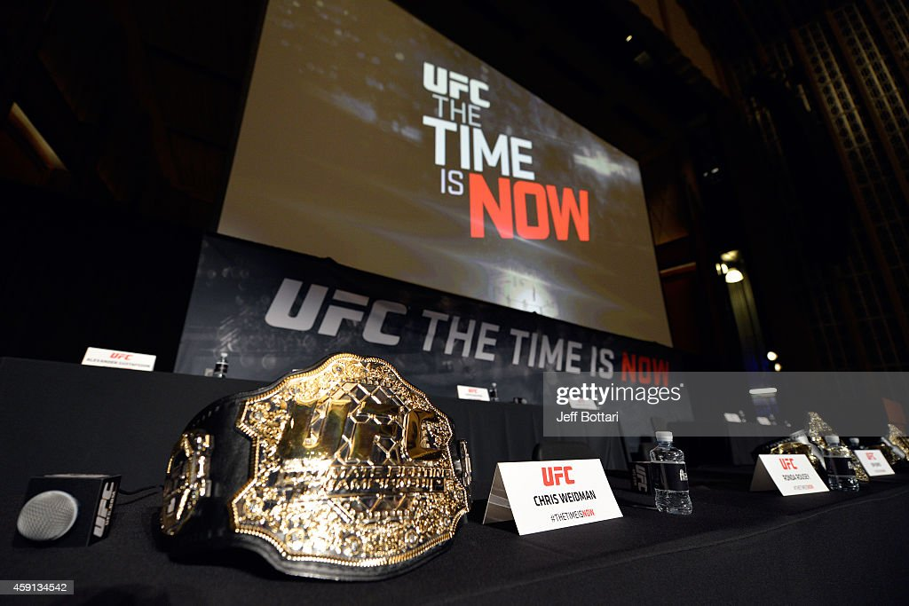 A general view before the UFC Time Is Now press conference at The Smith Center for the Performing Arts on November 17, 2014 in Las Vegas, Nevada.