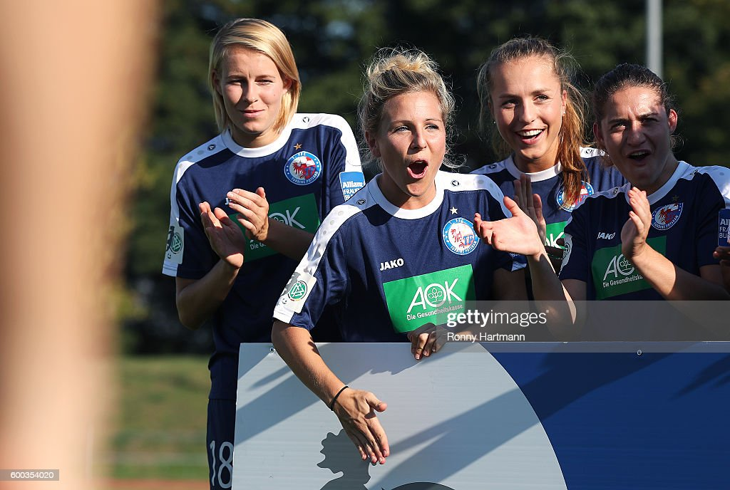 A general view behind the scenes of the Allianz Women's Bundesliga Club Tour on September 7, 2016 in Potsdam, Germany.
