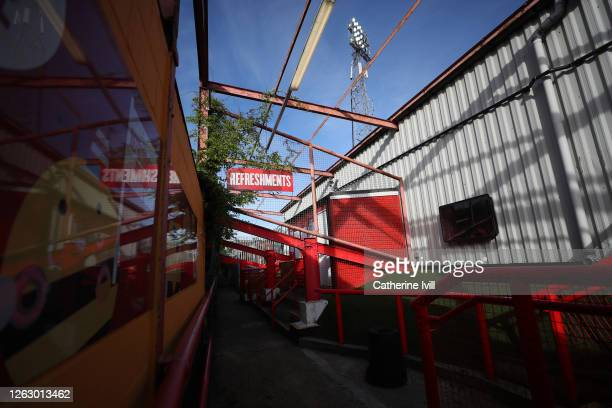 General view behind the stand of the refreshment area prior to the Sky Bet Championship Play Off Semifinal 2nd Leg match between Brentford and...