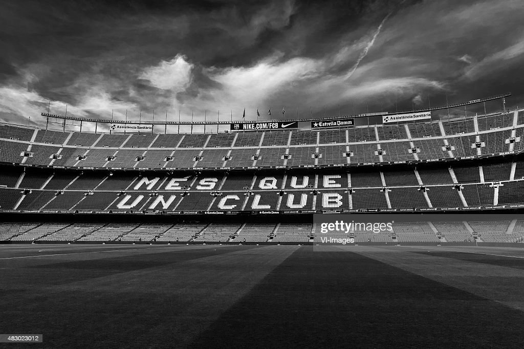 General View Camp Nou Home Of Fc Barcelona Black White Filter Edit News Photo Getty Images
