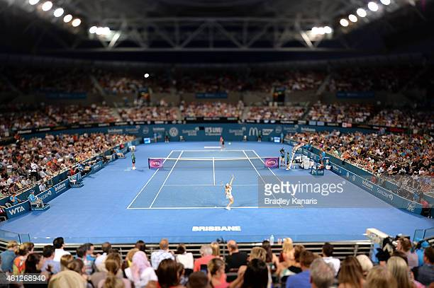 A general view can be seen of Pat Rafer Stadium during the Women's finals match between Maria Sharapova of Russia and Ana Ivanovic of Serbia during...