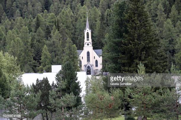 A general view church during the wedding of Prince Konstantin of Bavaria and Princess Deniz of Bavaria born Kaya at the french church 'Eglise au...