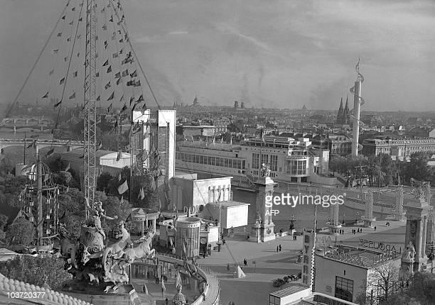 General view dated 05 June 1937 of the 1937 World fair or Exposition Internationale des Arts et Techniques dans la Vie Moderne which was held in Paris