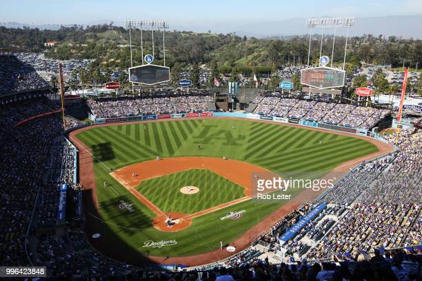 A general view Dodger Stadium during the game against the San Francisco Giants at Dodger Stadium on Thursday March 29 2018 in Los Angeles California