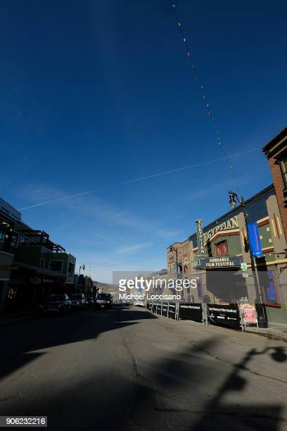 A general view down Main Street as Park City prepares for the 2018 Sundance Film Festival on January 17 2018 in Park City Utah