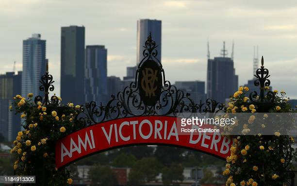 General view during 2019 Derby Day at Flemington Racecourse on November 02, 2019 in Melbourne, Australia.