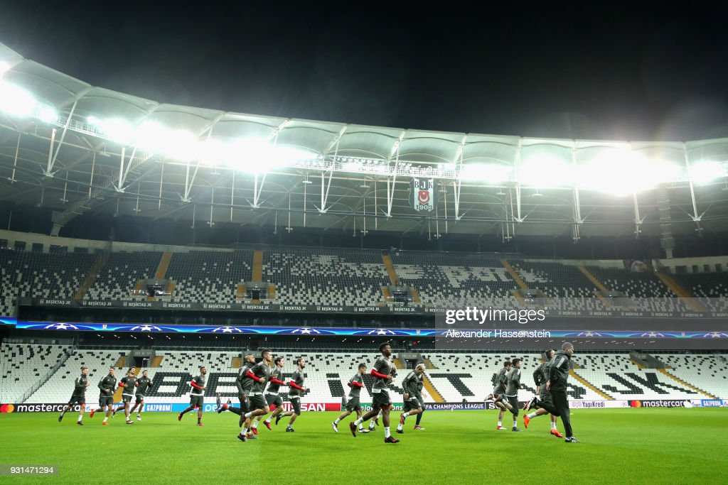A general view during a Bayern Muenchen training session ahead of their UEFA Champions League round of 16 match against Besiktas at Vodafone Park on March 13, 2018 in Istanbul, Turkey.