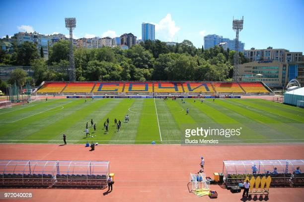A general view during a Brazil training session ahead of the FIFA World Cup 2018 at YugSport Stadium on June 12 2018 in Sochi Russia