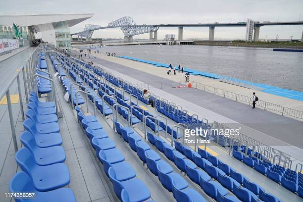 General view during a canoe sprint test eventfor the Tokyo 2020 Olympic and Paralympic Games at Sea Forest Waterway, on September 13, 2019 in Tokyo,...