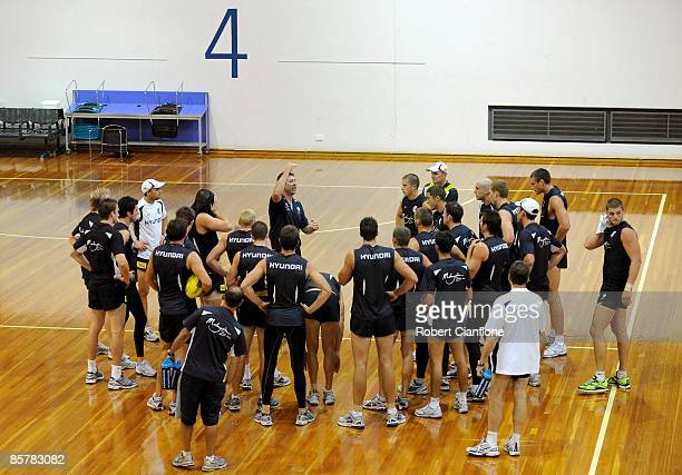 General view during a Carlton Blues training session at State netball and Hockey Centre on April 3, 2009 in Melbourne, Australia.
