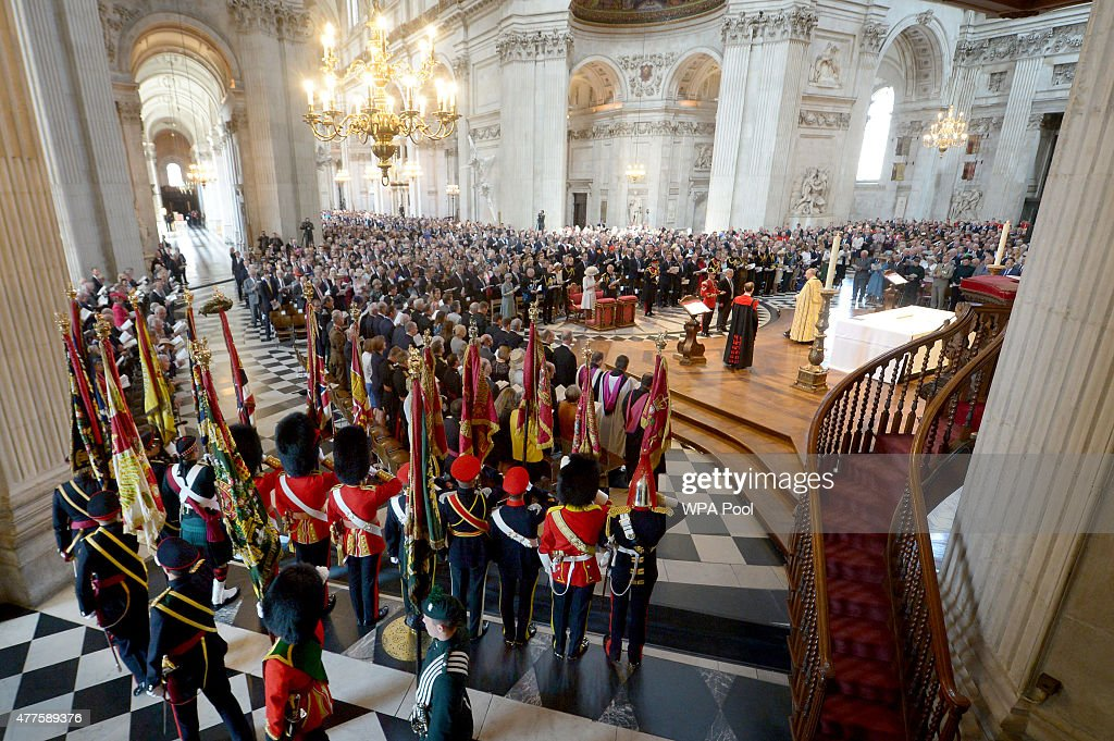 National Service To Mark The 200th Anniversary Of The Battle Of Waterloo : News Photo