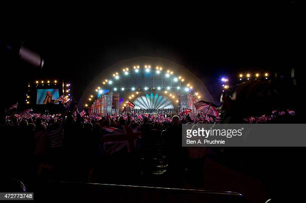 General view during a concert on the 70th anniversary of VE Day at Horse Guards Parade on May 9, 2015 in London, England.