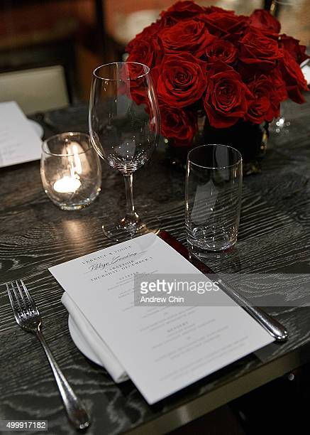 A general view during a dinner at L'Abattoir Restaurant as Versace Vogue celebrate the launch of Versace Vancouver Boutique on December 3 2015 in...