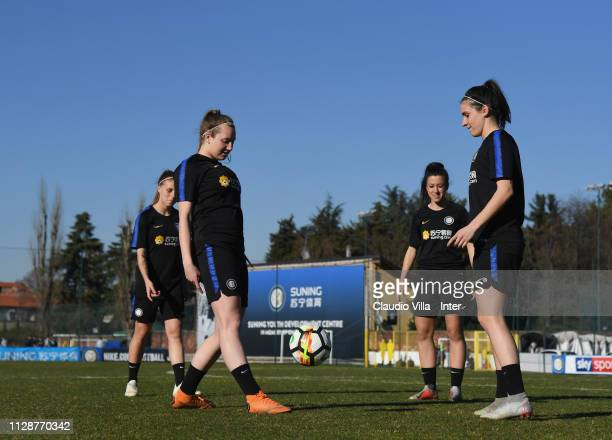 A general view during a FC Internazionale Women training session at Suning Youth Development Centre in memory of Giacinto Facchetti on March 05 2019...