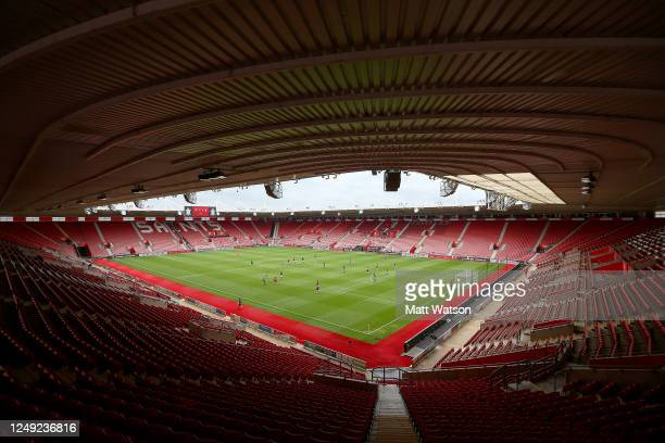 A general view during a friendly match between Southampton FC and Bristol City ahead of the Premier League restart at St Mary's Stadium on June 12...