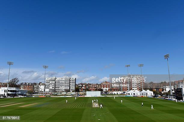 General view during a friendly match between Sussex and Surrey at BrightonandHoveJobs.com County Ground on March 29, 2016 in Hove, England.