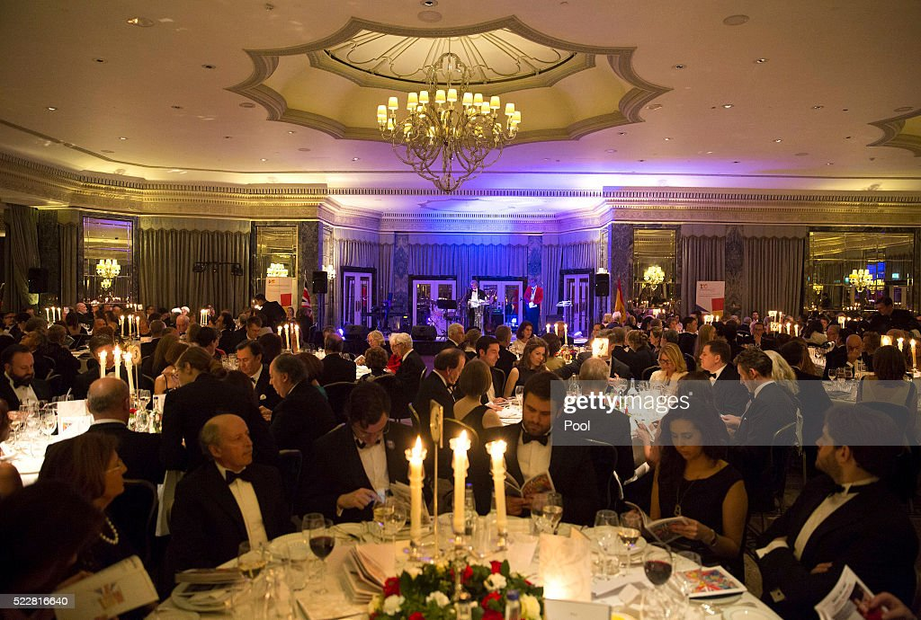A general view during a gala commemorating the centenary of the British - Spanish Society, at the Dorchester Hotel, on April 20, 2016 in London, England.