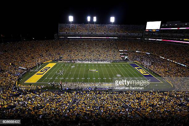 General view during a game at Tiger Stadium on September 17, 2016 in Baton Rouge, Louisiana.