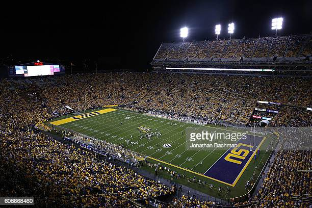 A general view during a game at Tiger Stadium on September 17 2016 in Baton Rouge Louisiana