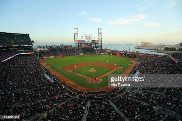 A general view during a game between the Colorado Rockies and the San Francisco Giants at ATT Park on Tuesday June 26 2018 in San Francisco California