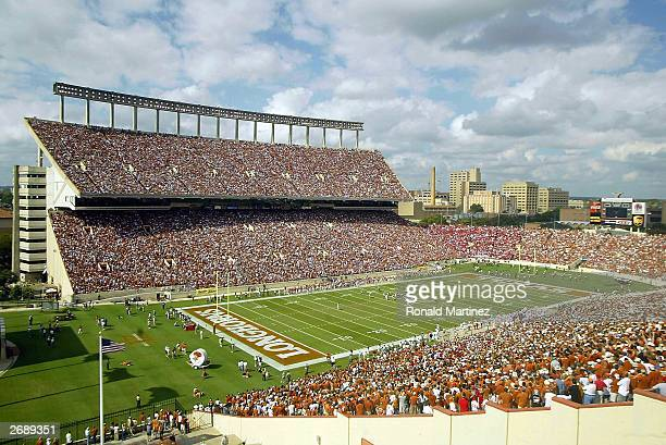 A general view during a game between the Nebraska Cornhuskers and the Texas Longhorns at Texas Memorial Stadium on November 1 2003 in Austin Texas