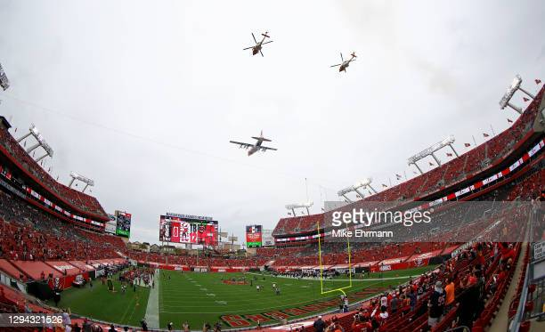 General view during a game between the Tampa Bay Buccaneers and the Atlanta Falcons at Raymond James Stadium on January 03, 2021 in Tampa, Florida.