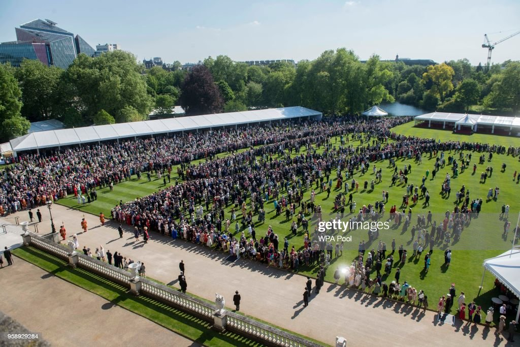 A general view during a garden party at Buckingham Palace on May 15, 2018 in London, England.