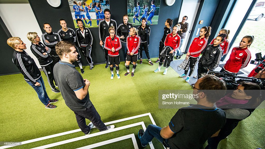 A general view during a Germany Women's Footbonaut Training Session at on October 23, 2015 in Zuzenhausen, Germany.