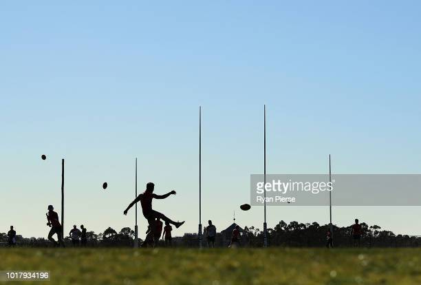 A general view during a Greater Western Giants AFL training session at the WestConnex Centre on August 17 2018 in Sydney Australia