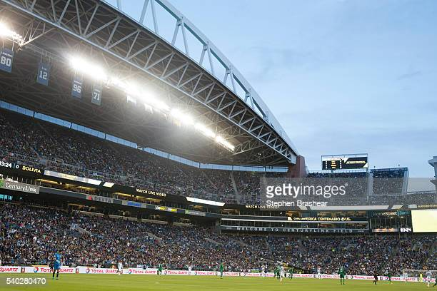 General view during a group D match between Argentina and Bolivia at CenturyLink Field as part of Copa America Centenario US 2016 on June 14 2016 in...