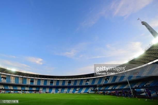 General view during a group F match of Copa CONMEBOL Libertadores 2020 between Racing and Nacional at Juan Domingo Peron Stadium on September 17 2020...
