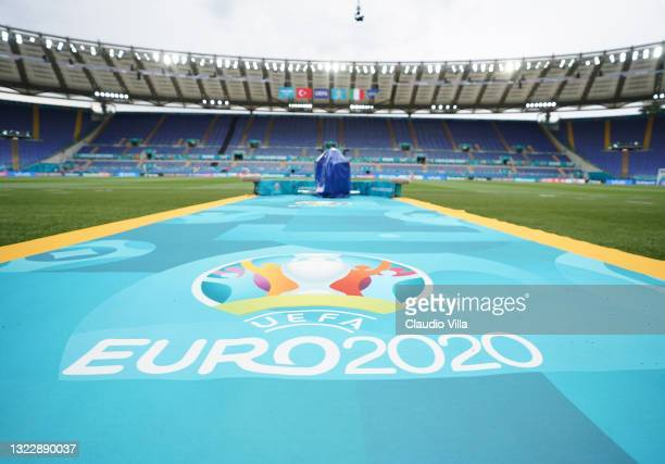 General view during a Italy training session ahead of the UEFA Euro 2020 Group A match between Italy and Turkey at Olimpico Stadium on June 10, 2021...