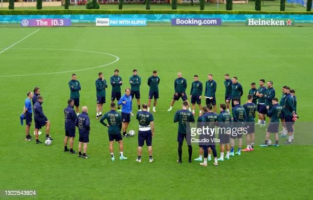General view during a Italy training session at Centro Tecnico Federale di Coverciano on June 08, 2021 in Florence, Italy.