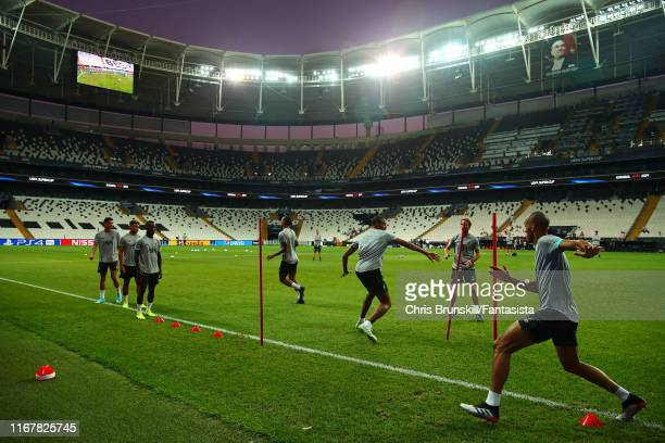 General view during a Liverpool training session ahead of the UEFA Super Cup match at Vodafone Park on August 13, 2019 in Istanbul, Turkey.