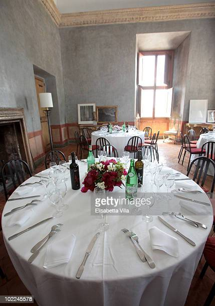 A general view during a lunch for the 'JeanAugusteDominique Ingres And Ellsworth Kelly' exhition preview at Villa Medici on June 19 2010 in Rome Italy