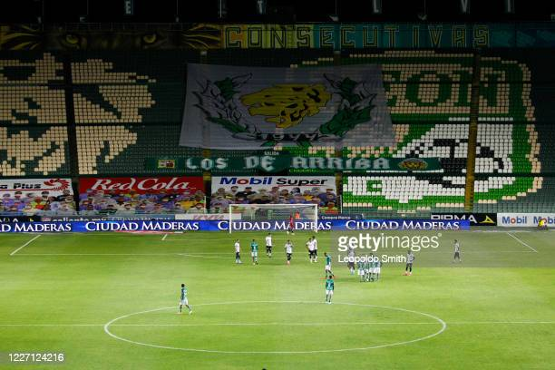 General view during a match between Leon and FC Juarez as part of the friendly tournament Copa Telcel at Leon Stadium on July 14 2020 in Leon Mexico
