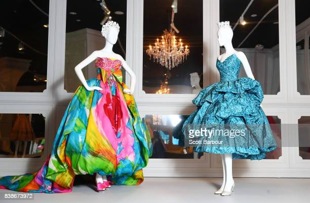 A general view during a media preview of The House of Dior Seventy Years of Haute Couture exhibition at NGV International on August 25 2017 in...