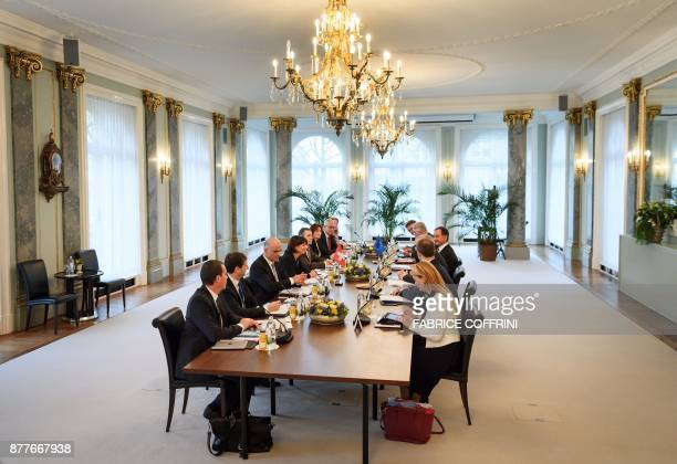General view during a meeting between Swiss President Doris Leuthard and European Commission President Jean Claude Juncker during an official visit...